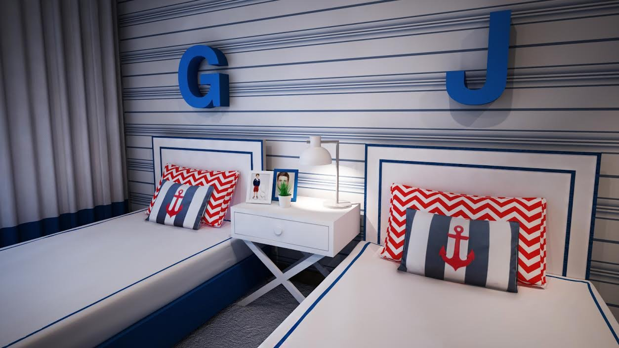 Ângela Pinheiro - Decoração de Interiores - Home Design - Decoração de Interiores - Quarto Navy