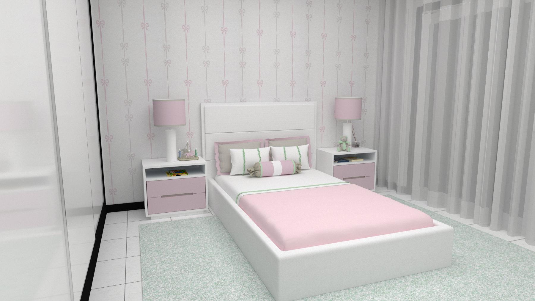 quarto de menina projeto 3d  angela pinheiro