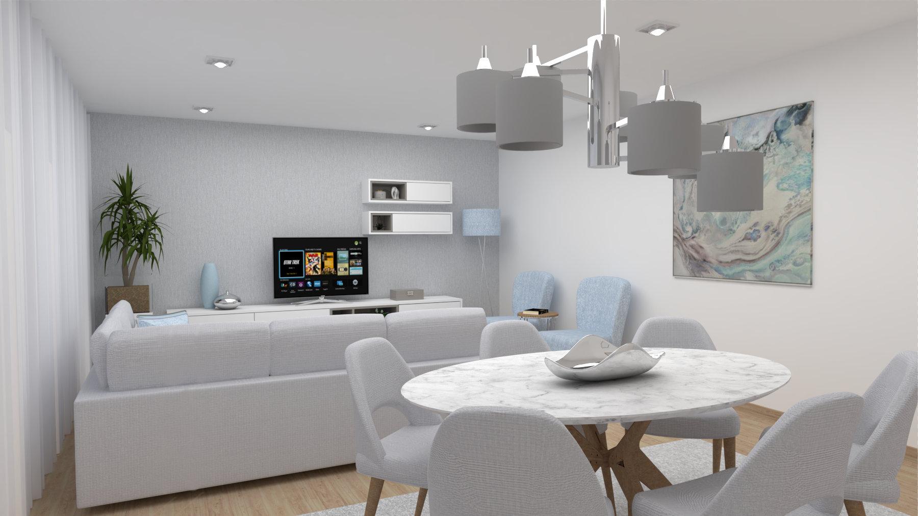 Ângela Pinheiro - Decoração de Interiores - Home Design - Decoração de Interiores - Sala 3D
